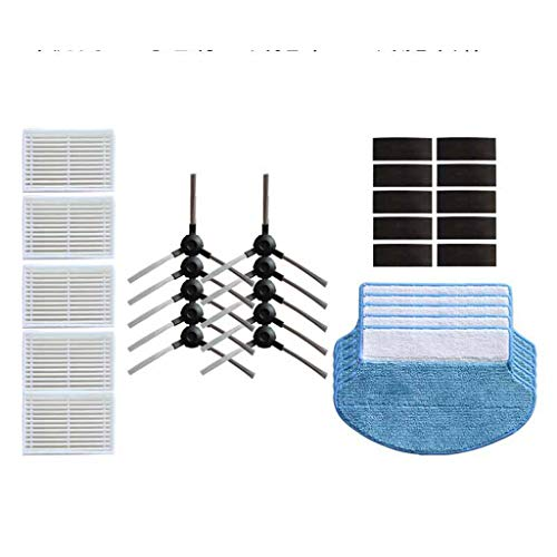 LUBITY 30PCS Filtre + Brosse Latérale + kit de Nettoyage pour Aspirateur Proscenic Jazz/Polar Bear