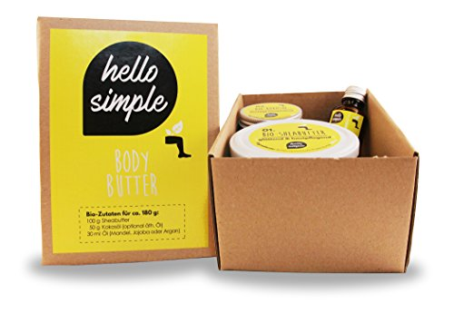 hello simple - DIY Body Butter zum Selbermachen (180 g), Naturkosmetik ohne Aluminium, vegan, bio, plastikfrei (Natural (ohne Duft) mit Jojobaöl) - 6