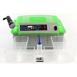 Qubeat Incubadora automática Llena criadores de Reptiles Verde Huevos exóticos, incubar incubadora de la máquina, máquina de cría