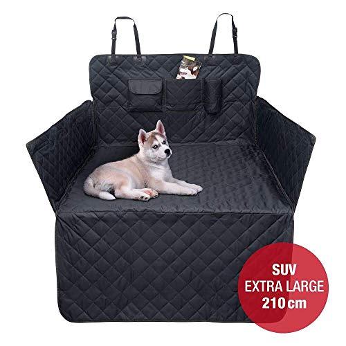 JAMAXX Auto Kofferraum XXL Schondecke für SUV Kombi Extra-Lang 210cm Seitenschutz Hunde-Decke Wasserdicht