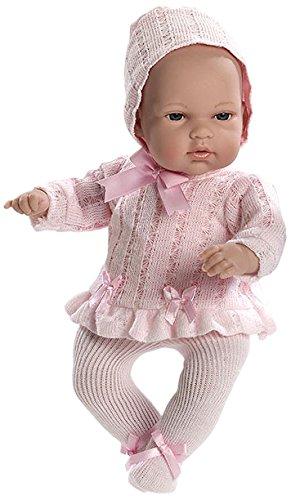 Preisvergleich Produktbild Arias 33cm Eleganz Natal Baby Boy Puppe in einer Tasche (Pink)