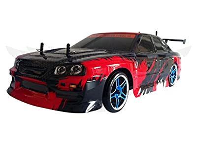 Flying Gadgets Remote Control (RC) Momentum Driving Electric Drift Car - Red & Black