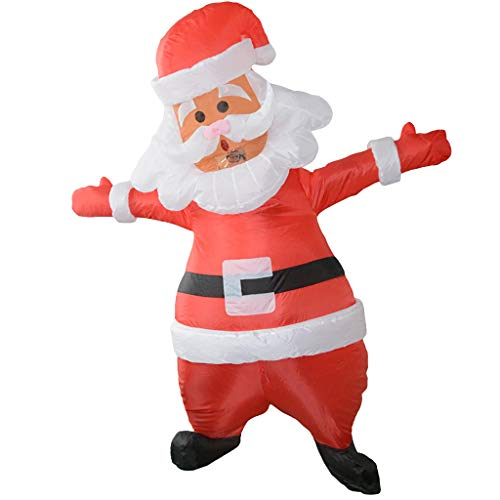 Aufblasbarer Weihnachtsmann Kostüm - AmaMary Erwachsenes aufblasbares Sankt-Kostüm aufblasbarer Weihnachtsmann für Weihnachtsfest Partei Stadium Cosplay