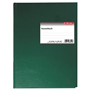 Herlitz 882407 Cash Columns Account Book A4 96 Pages Bound and Double Sided