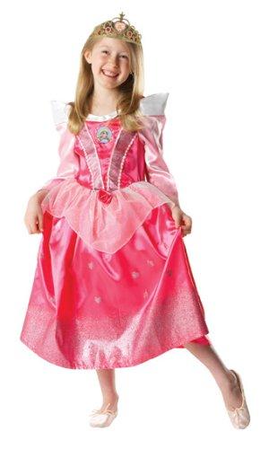 Rubies 3 880032 - Costume glitterato da Bella Addormentata, per bambine, Taglia: S