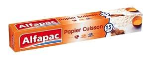 Alfapac - S15 - Rouleau Papier Cuisson - 15 m - Lot de 3