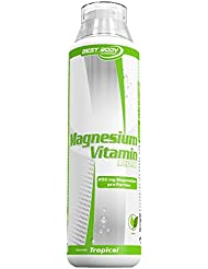 Best Body Nutrition Magnesium Vitamin Liquid, Tropical, 500 ml Flasche