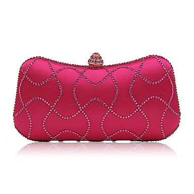 pwne Frauen Abend Tasche Nylon All Seasons Formale Casual Event/Party Hochzeit Minaudiere Crystal/Strass Snaphandbag Kupplung Mehr Farben Fuchsia