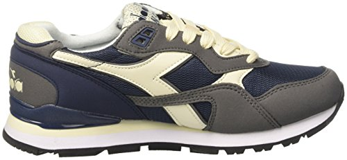 Diadora N-92, Sneaker a Collo Basso Unisex – Adulto Blu (Blu Denim Scuro/Grigio Bufera)