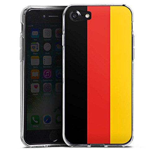 Apple iPhone X Silikon Hülle Case Schutzhülle Deutschland Flagge Fußball Silikon Case transparent