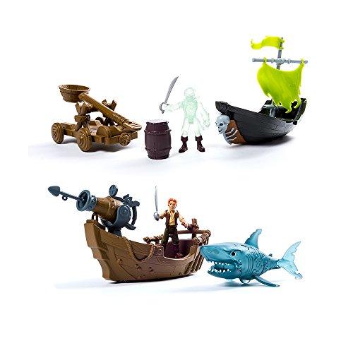 Disney Pirati dei Caraibi Pirati dei Caraibi Set di Gioco con Nave e Personaggio, 6035325 , Modelli/Colori Assortiti, 1 pezzo