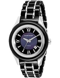 Naf Naf - N10334-203 - Shaba - Montre Femme - Quartz Analogique - Cadran Noir - Bracelet Céramique Noir