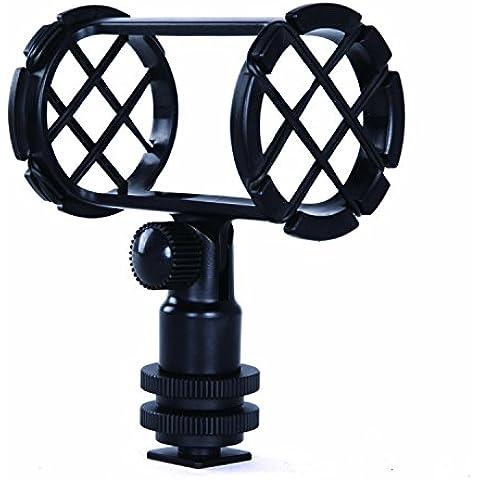 Movo SMM1 Soporte de Zapata Amortiguado de Cámara para Micrófonos Cañón 19-25mm de Diámetro (Incluyendo Rode NTG-1, NTG-2, Sennheiser MKE-600)