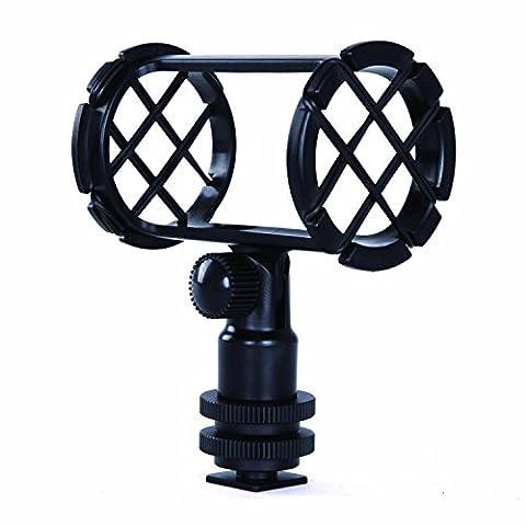 Movo SMM1 Kamera Schuh Shockmounts für Shotgun-Mikrofone sowie 19-25mm Durchmesser (einschließlich Rode NTG-1, NTG-2, Sennheiser MKE-600)