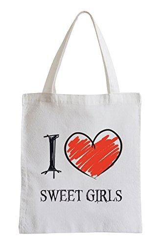 Amo ragazze dolci Fun sacchetto di