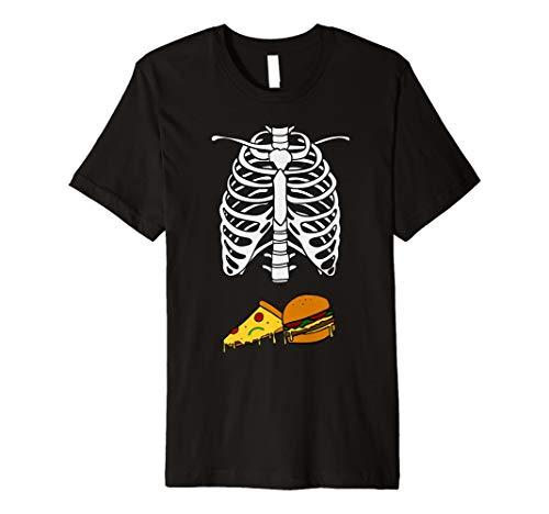 Pizza Hamburger Skelett T-Shirt Schwangerschaft Kostüm Halloween