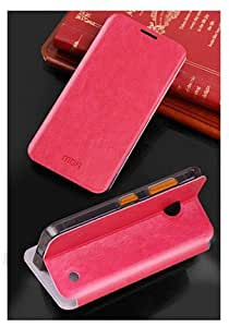 MOFI Premium Leather Flip Cover Case with Stand For Nokia Lumia 630 (Red)