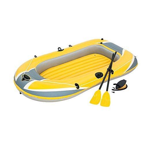 Bestway Hydro-Force Raft Set Boot 228x121 cm mit Blasebalg und 2 Rudern