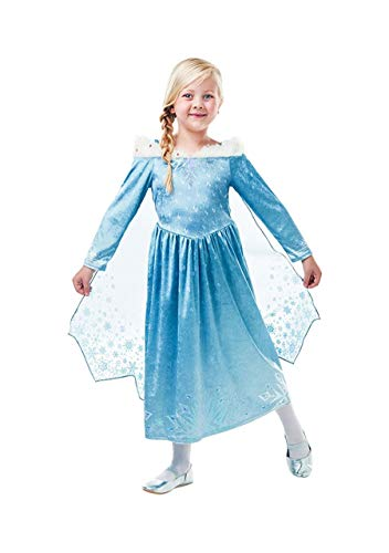 Kostüm Elsa Frozen Disney Deluxe - Frozen-Elsa Deluxe Kostüm Kinder (Rubie 's Spain) M