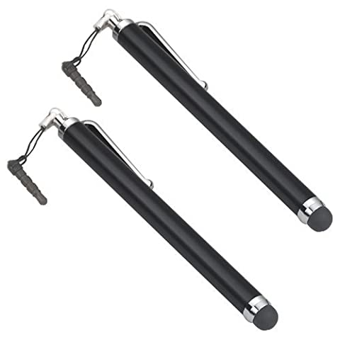 TRIXES 2 x Black Stylus Pens For Smart Phones and