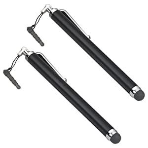 TRIXES 2 x Black Stylus Pens For Smart Phones and Tablets