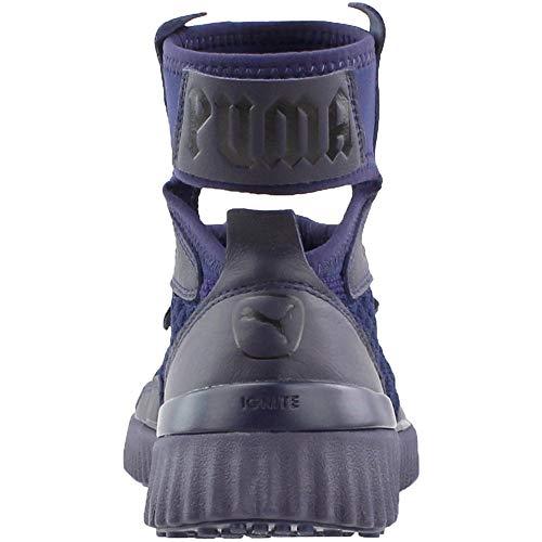 PUMA Women s Fenty x Trainer Mid Geo Sneakers  Evening Blue Black  8 5 B M  US