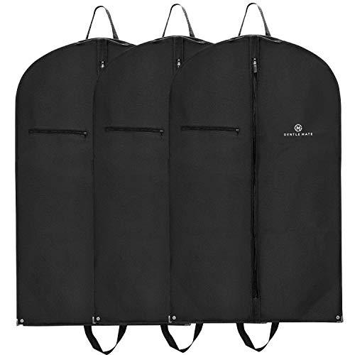 Gentle Mate® 3er Set Premium Kleidersäcke mit Schultergurt inklusive Duftbeutel - hochwertige Anzugtasche Kleidertasche Business für Reisen und Aufbewahrung von Anzügen, Hemden Anzugsack Herren