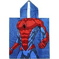 Cerdá 2200003878 Poncho Algodón Spiderman Azul 50x115cm