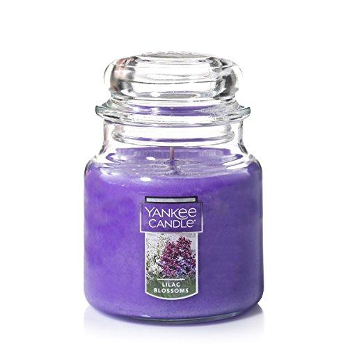 YANKEE CANDLE Duftkerze im Glas Kerzen Medium Jar Candle Fliederfarben