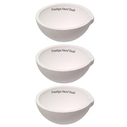 Ptl 3 x Keramik Schüssel Schmelztiegel schmelzen Dishes Casting Raffination Schmelzen Gold Silber Goldschmiedebedarf Prestige 500 g