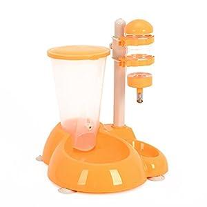 Brilliant firm Automatisierte Futterspender Haustier-Wassermann-Haustier-automatischer Zufuhr 2 in 1 vertikaler Trinkbrunnen (Color : Yellow)