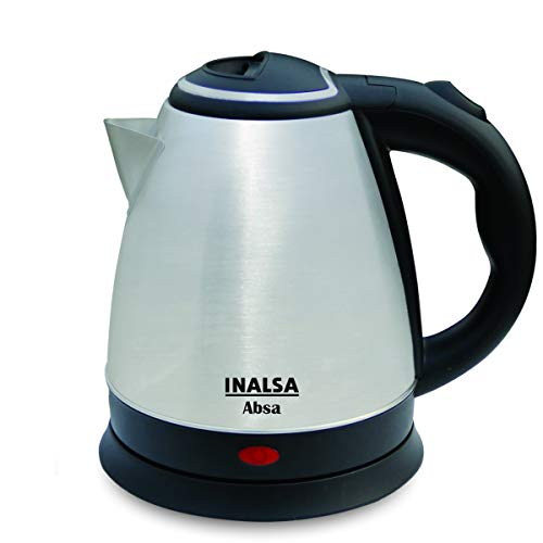Inalsa Electric Kettle Absa-1500W with 1.5 Litre Capacity, (Black/Silver)
