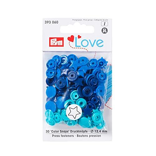 Prym 393060 Sternform Color snaps Prym Love Druckknopf Color KST 12,4mm blau/türkis/marine -