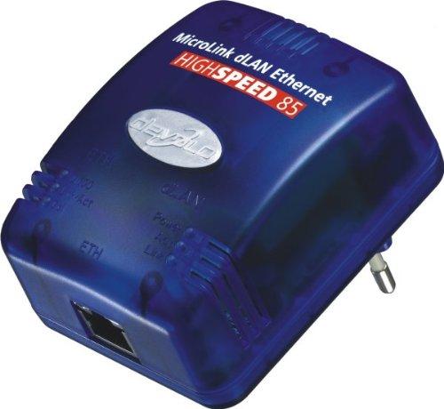 Devolo MicroLink dLAN Highspeed Starter Kit (Ethernet 85 MBit bestehend aus Zwei DLAN highspeed Adaptern)