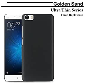 For Xiaomi Mi5 Golden Sand Ultra Thin Series Rugged Hard Back Case; Velvet feel, Strong, High Quality 0.5mm Flexible PC Shell Perfect Fit Cover - Matte Black