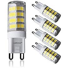 Lampaous LED G9 5 W, blanco neutro 4000 K, 5 W G9 LED equivalente