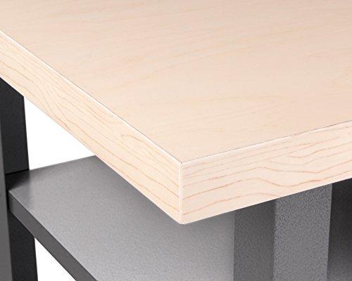 Ondis24 Werkstatteinrichtung 120 cm grau Werkbank Basic aus Metall und Lochwand mit Hakensortiment (Arbeitshöhe 85 cm) - 4