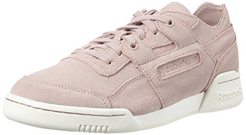 <span class='b_prefix'></span> Reebok Women's Workout Lo Plus Fbt Low-Top Sneakers, Grey