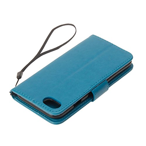 Cover per iPhone 6 Plus/iPhone 6s Plus (5.5), EUWLY Portafoglio Custodia in Pelle Protettiva Cover Case Per iPhone 6 Plus/iPhone 6s Plus (5.5) Premium Retro Morbido PU Leather Wallet Cover Supporto  Blu