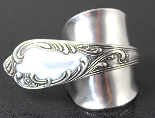 Opulenter Rokoko Besteck Schmuck Ring, ca. 64 (20,5) Ring aus Besteck