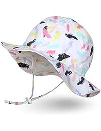 Ami&Li tots Niña Sombrero de Sol ala Ancha Ajustable Sombrero Protección Solar UPF 50 para Bebés, Niñas Niños Infantil Pequeñito Unisexo