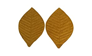 Clean Planet Ecofriendly Handcrafted Reusable Washable Leaf Shaped Felt Coasters for Tea Cups | Coffee Mugs | Tabletops Set of 2 Combo
