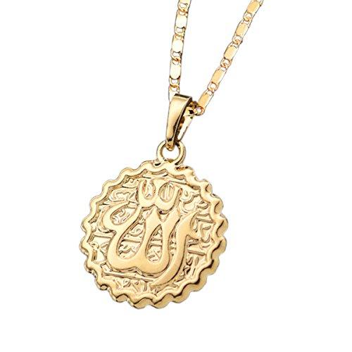 Dunbasi Islam Muslim Koran Allah Kette Gold Anhänger Islamische Muslimische Halskette Damen Herren Schmuck Geschenke