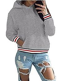 ASSKDAN Damen Kapuzenpullover Sweatshirts Hoodie Sport Oversize Outerwear  Pullover Herbst 0154f4f752