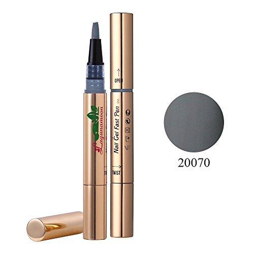 Lagunamoon UV LED ablösbarer Nagellack Gellack Set nail Gel Polish für Nageldesign-Nude 6 Farbe Geschenk Set 8ml -