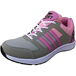 Port Women's Victory Pink Running Sports Shoes(8 Ind/Uk)