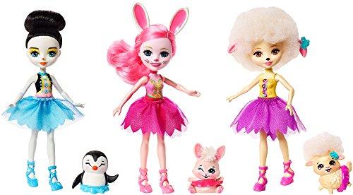 Enchantimals Tripack muñecas con mascotas y accesorios de ballet (Mattel FRH85)