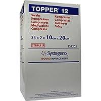 Topper 12 Kompressen 10x20 cm Steril, 35X2 St preisvergleich bei billige-tabletten.eu