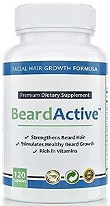 Beard Active - Für mehr Bartwuchs - Verstärkt Bartwuchs & Haarwuchs - MADE IN GERMANY - Für einen gesunden, dichten Bart , 120 Kapseln