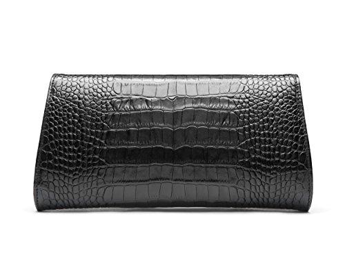 SAGEBROWN Melanie Bag Black Croc